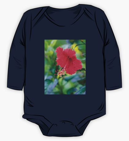Rose Red Hibiscus Beauty One Piece - Long Sleeve
