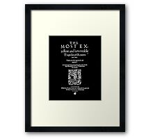 Shakespeare Romeo & Juliet Frontpiece - Simple White Version Framed Print