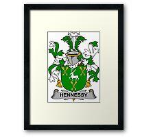 Hennessy Coat of Arms (Irish) Framed Print