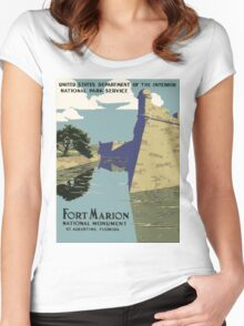 Vintage poster - Fort Marion Women's Fitted Scoop T-Shirt