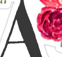 Floral Monogram Watercolor  Sticker