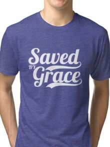 Saved By Grace - Christian Gifts Tri-blend T-Shirt