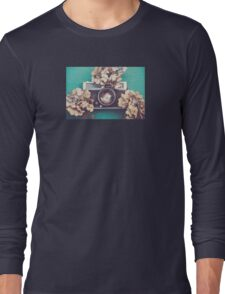 Camera & Hydrangea Long Sleeve T-Shirt
