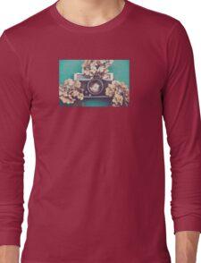 Camera & Hydrangea Long Sleeve T-Shirt