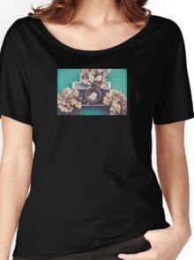 Camera & Hydrangea Women's Relaxed Fit T-Shirt