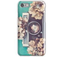 Camera & Hydrangea iPhone Case/Skin
