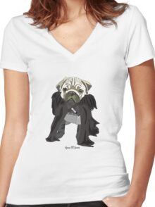 Game of Bones (Game of Thrones) Women's Fitted V-Neck T-Shirt