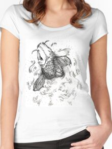Don't Be Koi. Women's Fitted Scoop T-Shirt