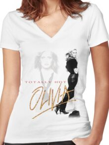 Oivia Newton-John - Totally Hot - 1979 Women's Fitted V-Neck T-Shirt