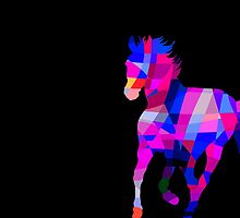 Cool Horse Vector Colors And Shapes  by Denis Marsili