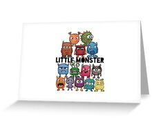 Little Monsters #2 Greeting Card