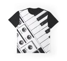 Synthesizer In Black & White Graphic T-Shirt