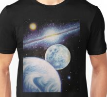 The Earth, the moon and the Milky Way Unisex T-Shirt