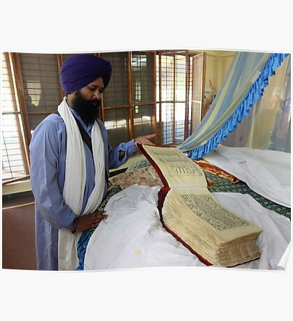 Very Old Sikh Book. Poster