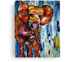 Mightly Colorful Elephant Canvas Print