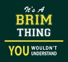 It's A BRIM thing, you wouldn't understand !! by satro