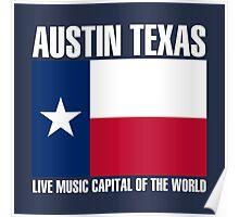 Austin flag live music  Poster