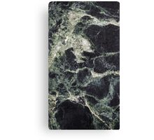 Dark Green Marble Abstract Background Canvas Print