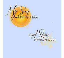 My Sun and Stars Photographic Print