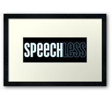 Speechless Framed Print