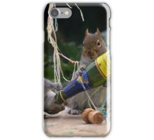 Squirrelisimo party time! iPhone Case/Skin