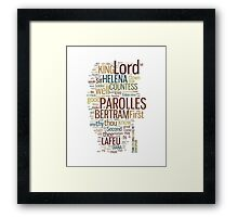 Shakespeare's All's Well That Ends Well Word Play Framed Print