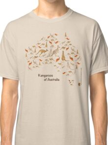 Kangaroo Map of Australia Classic T-Shirt
