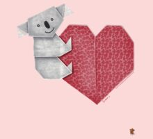 Cuddly Koala and Heart Origami Kids Clothes
