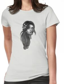 Rare Flower Womens Fitted T-Shirt