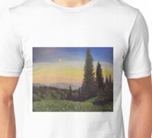 Moonlit Smoky Mountain Evening Unisex T-Shirt