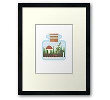 Terrarium in a Bottle Framed Print