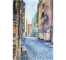 Gdansk watercolor Photographic Print