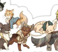 Catquisition Dragon Age: Inquisition Companions as Cats Sticker