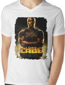 cage Mens V-Neck T-Shirt