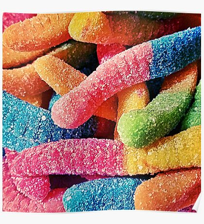 Gummy Worms Poster