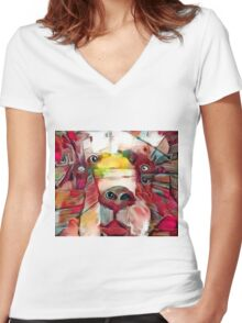 Mama Bear Women's Fitted V-Neck T-Shirt