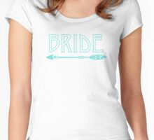 Bride Tribe Bachelorette Party BRIDE Shirt Women's Fitted Scoop T-Shirt