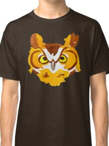Great Horned Owl Watercolor Classic T-Shirt