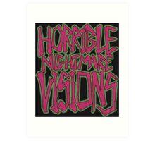 Horrible Nightmare Visions - Vintage Art Print