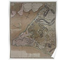 445 Plan of New York City of New York and its environs to Greenwich Town Survey'd in the winter 1775 Poster