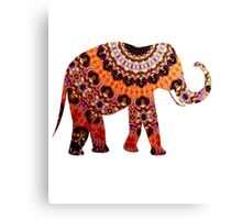 Cute Elephant African Tribal Watercolor Artwork Canvas Print