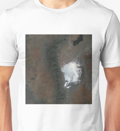 Spaceport America and White Sands New Mexico Satellite Image Unisex T-Shirt