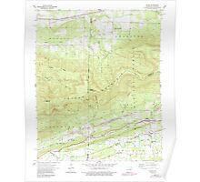 USGS TOPO Map Arkansas AR Bates 257942 1958 24000 Poster