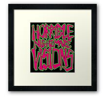 Horrible Nightmare Visions Framed Print