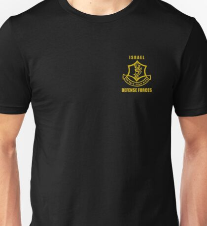 IDF T-Shirt Israeli Army. Israel Defense Force Small Logo Unisex T-Shirt