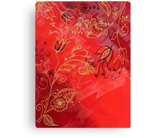 Gold on Red 2 of 3 Canvas Print