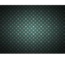 Kingdom Hearts pattern (green) Photographic Print