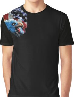 Brave Eagle American Flag 4th July t-shirt Graphic T-Shirt