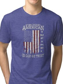 United States Proud shirt-July 4th T-Shirt independence Tri-blend T-Shirt