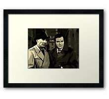 Kirk and Picard Detective Agency Framed Print